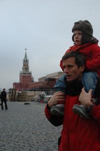 Duo masculin sur la Place Rouge