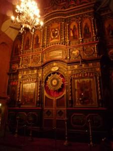 L'iconostase de la cathédrale