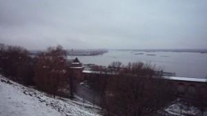 La Volga depuis de Kremlin de Nijni Novgorod