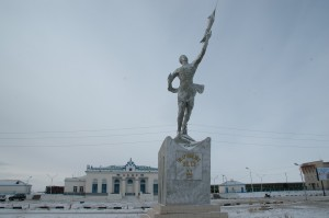 Statue du premier cosmonaute mongole