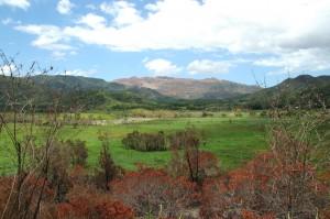 Paysage de Thio avec ses montagnes rongées