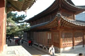 Détail de l'architecture en bois