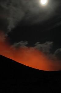 Volcan au clair de lune