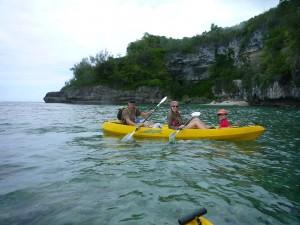 famille en canoé