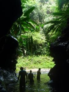 Sortie de la grotte