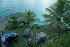 Campement dans la baie de Santal