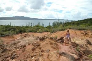 Paysage minier de l'île.