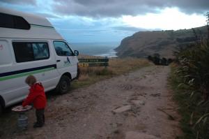 Camping sauvage sur la péninsule d'Otago