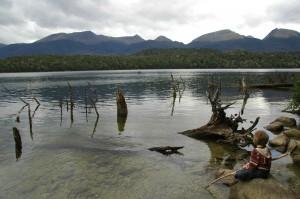 Lake Monowai dans les fjords du sud