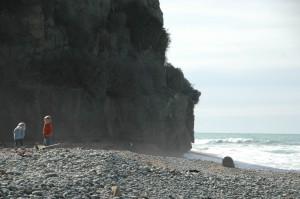 Plage de Bushey où la cohabitation est possible avec les phoques
