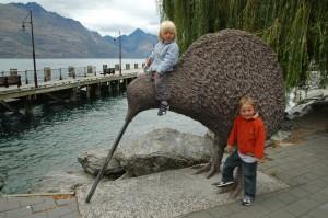 Nos fusions en compagnie du Kiwi, veritable dieu vivant en NZ