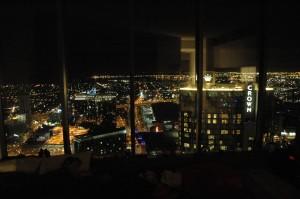 vue nocturne depuis le salon