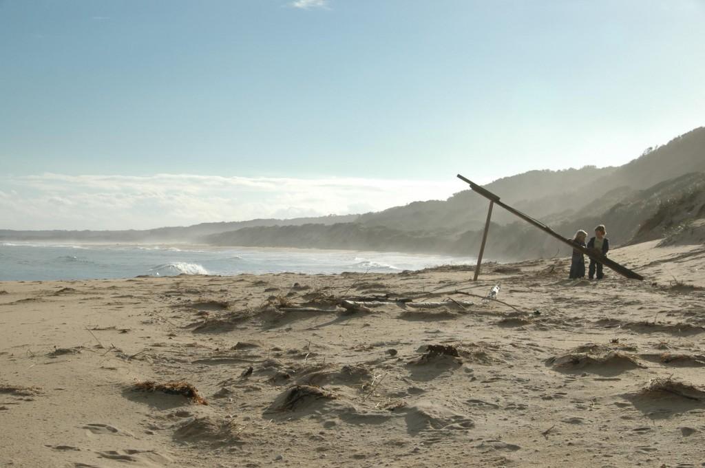 Construction éphémère sur la plage de Malone