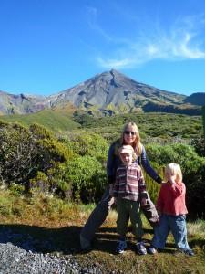Début d'une balade sur les flancs du volcan