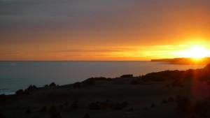 Couché de soleil sur la mer de Tasman
