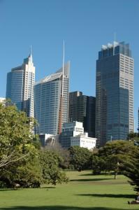 La city depuis le jardin botanique