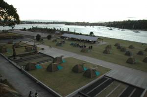 Campement sur Cockatoo Island