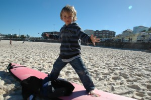 Essai de Manao sur la plage...