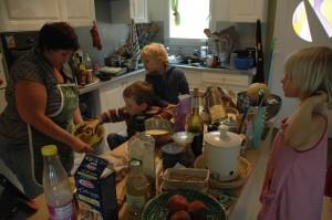 Cours de cuisine dirigé par Céline