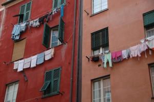 Séchage du linge à l'italienne!
