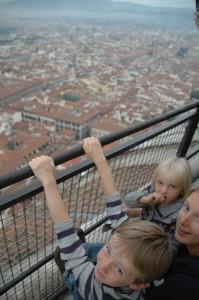 Vue imprenable depuis le sommet du Duomo
