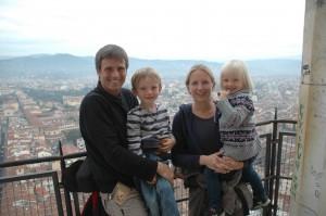 Petite famille en haut du Duomo