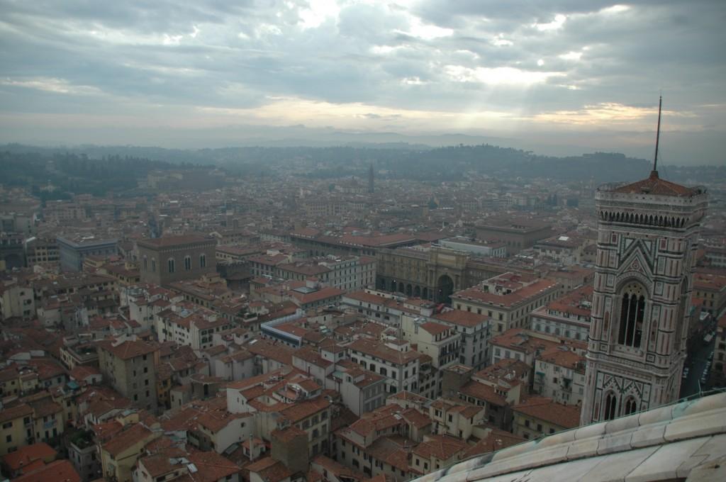 Vue de Florence en fin de journée