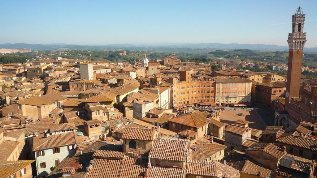 Vue de la Piazza del Campo et des environs