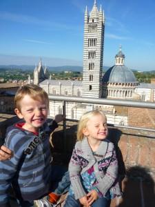 Vue sur le Duomo de Sienne